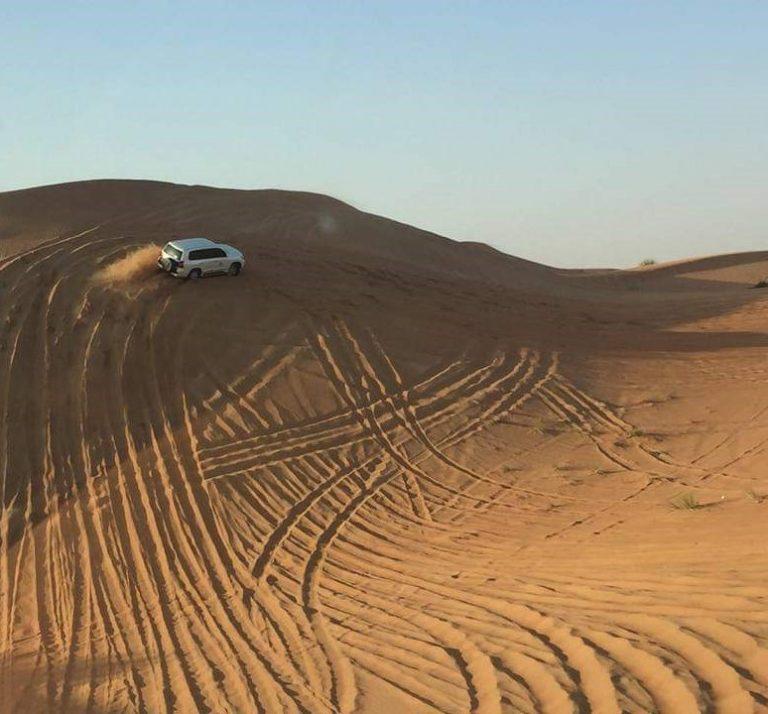 Dune bashing in the desert