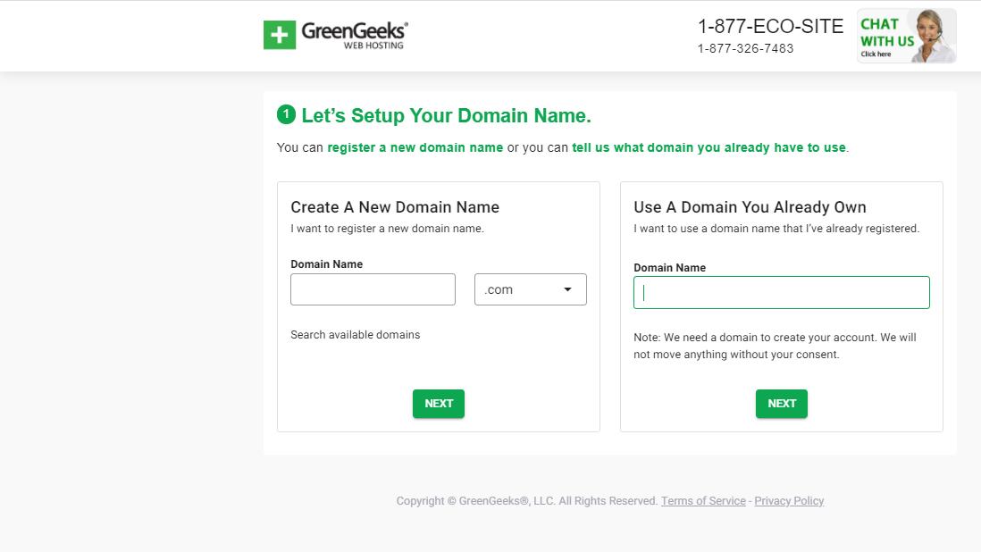 GreenGeeks Domain Name
