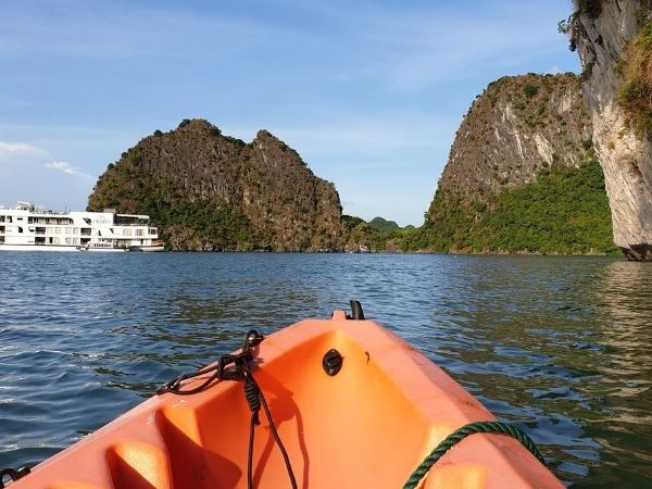 Kayaking around Halong Bay, Vietnam