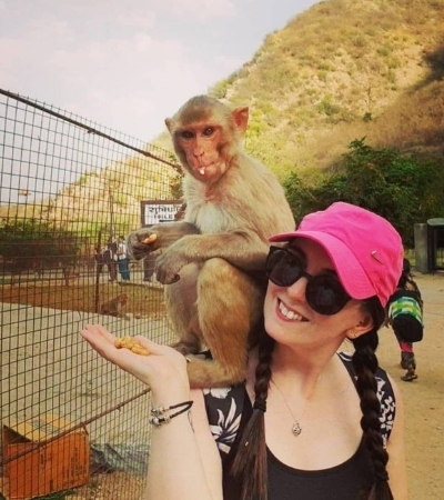 Hanging out with monkeys in India