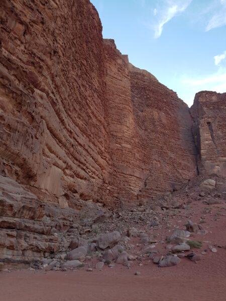 Rock formations Wadi Rum
