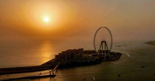 Sunset from the top of Amwaj Tower, Dubai Marina