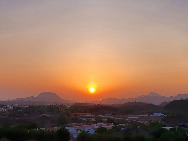 Sunset Hajar Mountains Hatta