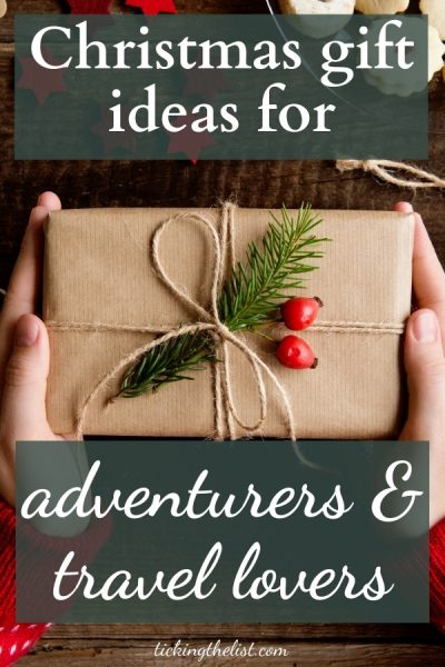 Pin Christmas gift ideas for adventurers and travel lovers