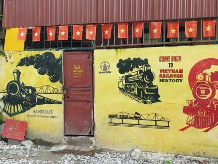 Train Street Hanoi Street Art