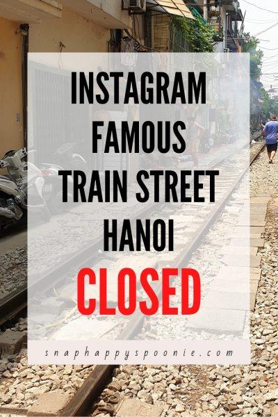 Train Street Hanoi Pin