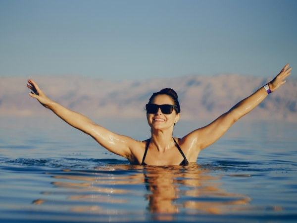 Dead Sea floating and swimming