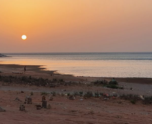Stranded on Socotra - sunset on the beach in Socotra