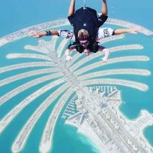 Skydiving over the palm, Dubai